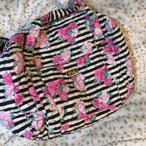 Betsy Johnson fabric weekender bag
